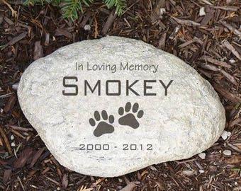 pet memorial stones etsy