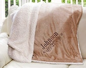 Embroidered Sherpa Blanket, personalized blanket, embroidered blanket, throw blanket, soft blanket, home decor, gift, winter -gfyE9610184