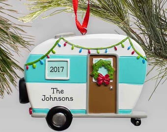 happy camper personalized ornament christmas decor xmas resin camping ornament custom christmas tree family gfy8114363c - Christmas Camper Decoration