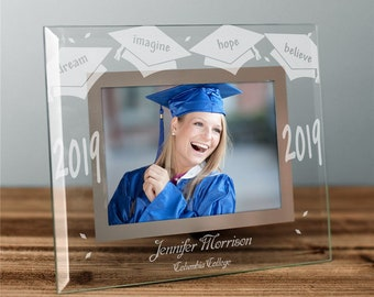 2a349e43eb3 Engraved Black Graduation Picture Frame personalized