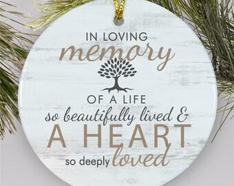 In Loving Memory Ornament Etsy