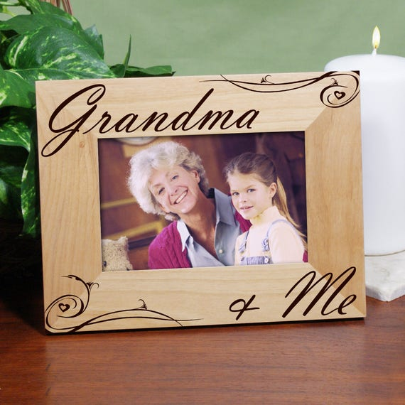 Personalized Grandma And Me Picture Frame Gift For Mom Gift For Grandma Wood Grandma Picture Frame Hinged Picture Frame Gfy927421