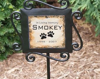Personalized Pet Memorial Garden Stake, custom, outdoor decor, pet, dog, cat, dog memorial, paw print, memorial gift, decor -gfy63158974