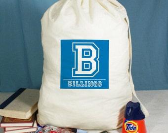 Personalized Initial Laundry Bag, custom laundry bag, personalized bag, drawstring bag, laundry hamper -gfy68174882