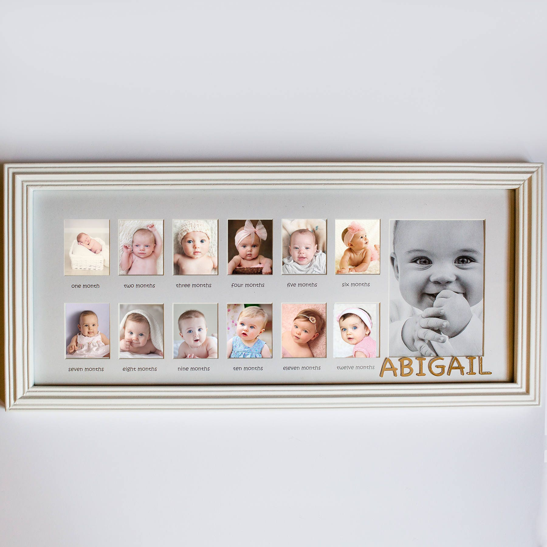 My First Year Personalized Frame, custom, wooden, baby gift, baby ...