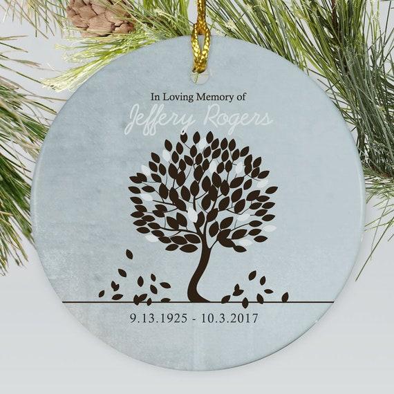 In Loving Memory Personalized Ornament Memorial Ornament Etsy