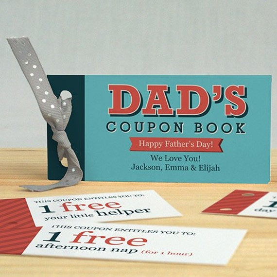personalized father s day coupon book personalized etsy