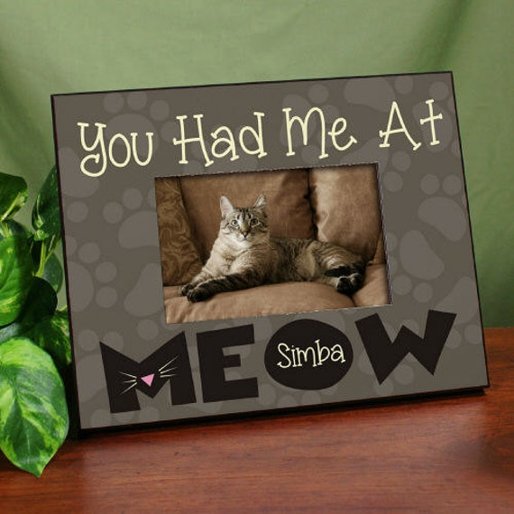 Personalized Had Me At Meow Printed Frame Beloved Pet Meow Etsy