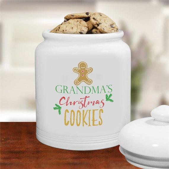 Christmas Cookies Personalized Cookie Jar Christmas Cookie Etsy