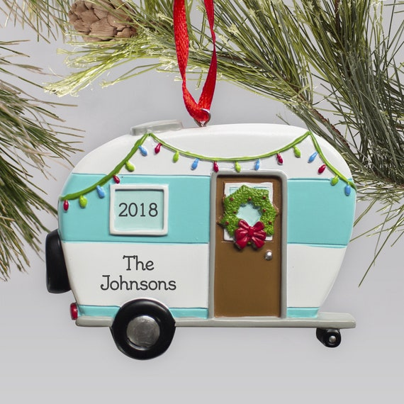 Happy Camper Personalized Ornament