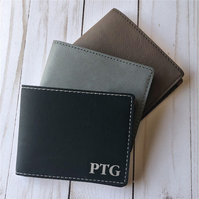 GiftsForYouNow Initials Leather Personalized Money Clip