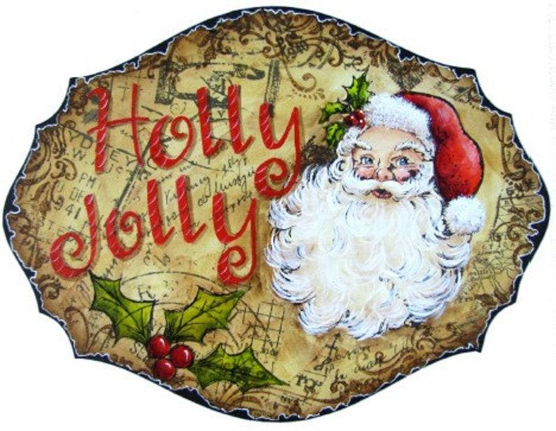 Jolly St Nick Plaque E-Pattern