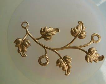 Leaf Vine Connector Brass ( last 3pc)
