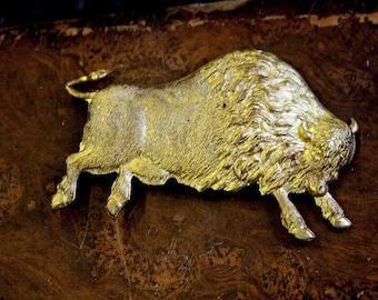 Vintage Big Buffalo Bison Steel Stamping ( 1 pc)