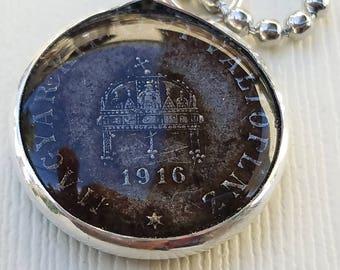 Antique Hungarian Coin Pendant