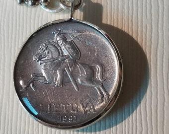 Lithuanian Coin Pendant