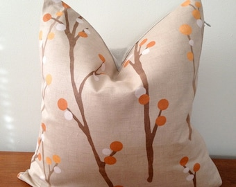 Decorative Throw Pillow Polka dots Tree Branches - Medium Weight Multicolor Printed Cotton- Cushion Cover