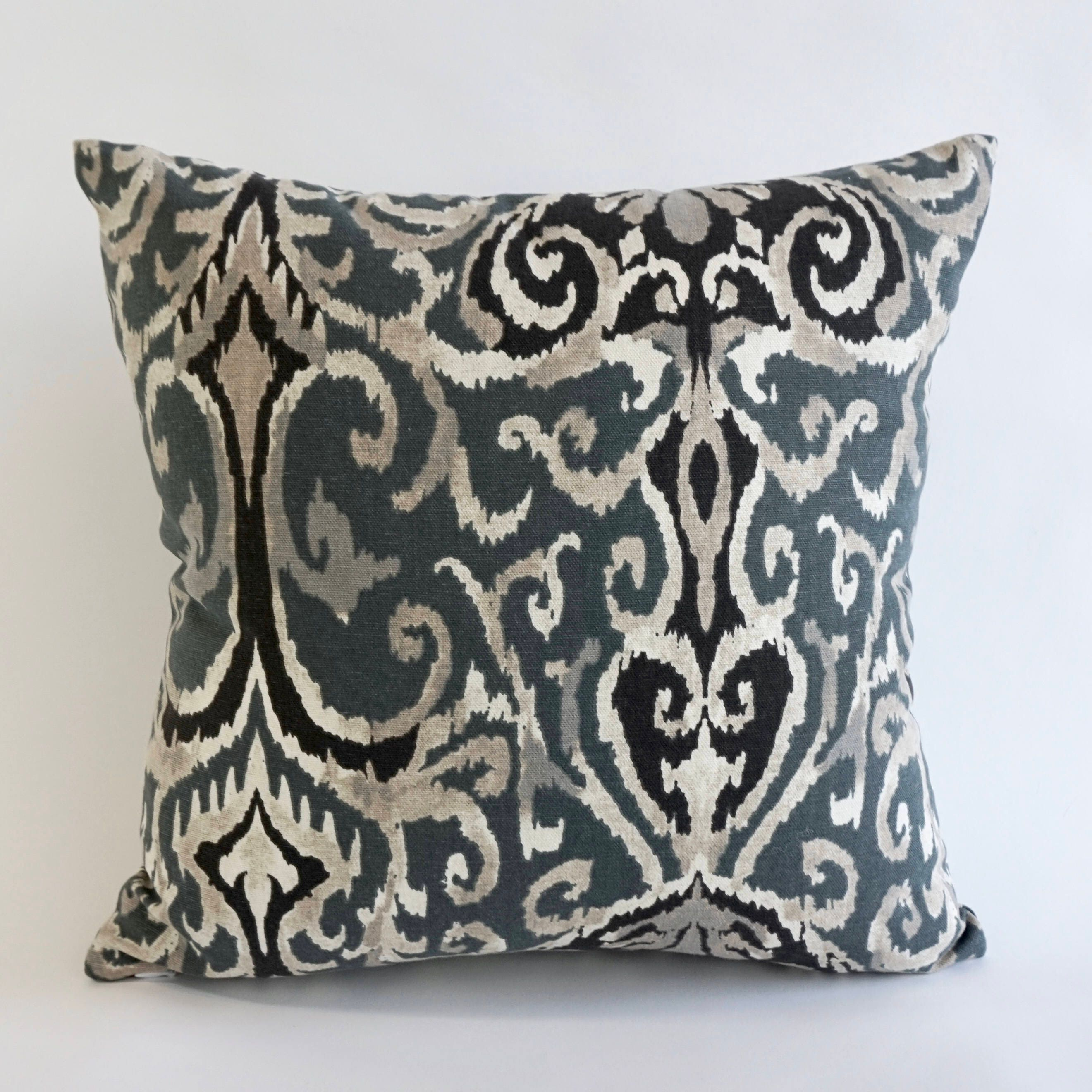 Poster Weights Etsy: Decorative Throw Pillow Ikat Print On Medium Weight Cotton