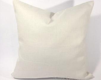Decorative Linen Throw Pillow Cover -Medium Weight Linen Or Canvas Cotton - Invisible Zipper Closure- Cushion Cover