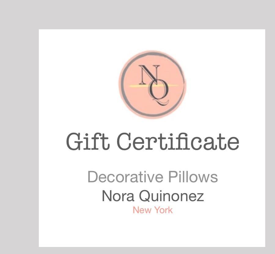 Nora Quinonez Gift Certificate Card Etsy Custom Birthday