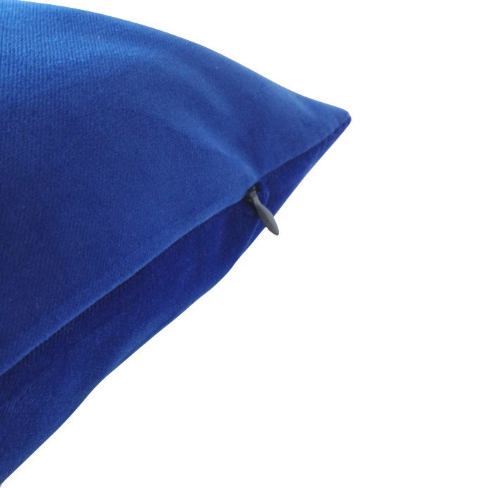 5e5d5582cc03 Royal Blue Decorative Bolster Throw Pillow- Medium Weight Cotton Velvet  -10x20 to 12x24 Invisible Zipper Closure- Knife Or Piping Edge