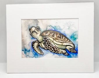 Sea Turtle - Watercolor Print