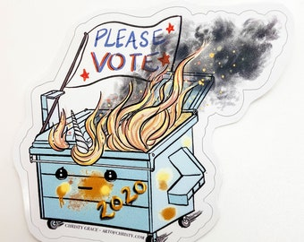 Dumpster Fireicorn - Vinyl Sticker