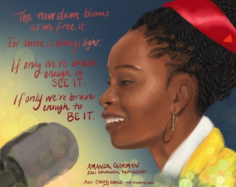 The Hill We Climb' Excerpt Art - from Amanda Gorman's Inaugural Poem