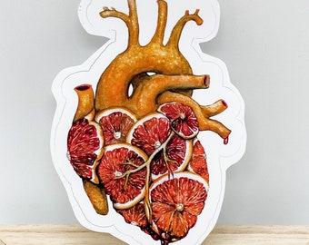Blood Orange Heart - Vinyl Sticker