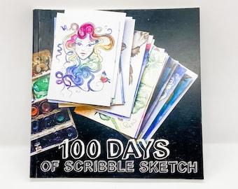 100 Days of Scribble Sketch - Art Book by Christy Grace