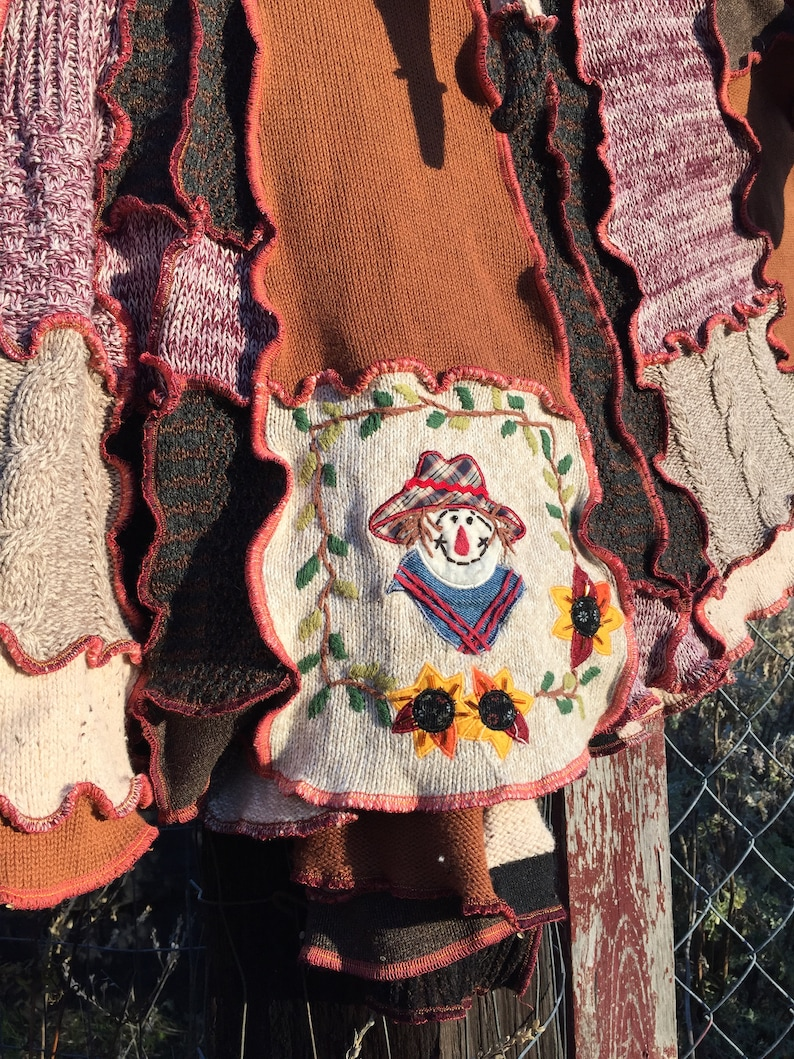 Katwise Inspired Harvest Gathering Sweatercoat Upcycled JSaFKalB