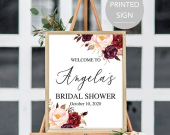 Fall Bridal Shower Welcome Sign Large Bridal Shower Welcome Sign Welcome Bridal Shower Sign Floral Bridal Shower Sign Printed Sign