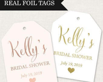 bridal shower tags real foil bridal shower favor tags gold bridal shower tags real foil bridal shower tags pink bridal shower tags