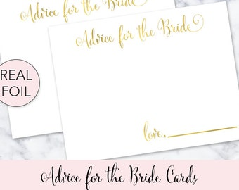 Advice for the Bride Cards Advice for the Bride to Be Advice for the soon to be Mrs Bridal Shower Advice Cards Bride's Advice Cards