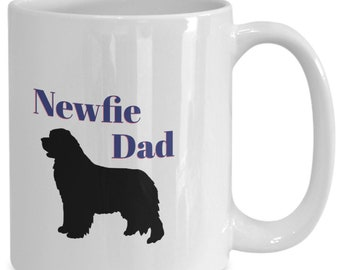 Newfie dad mug, gift mug, newfie gift, newfoundland, dog mug, dog dad, dad cup, newfie cup, newfoundland cup