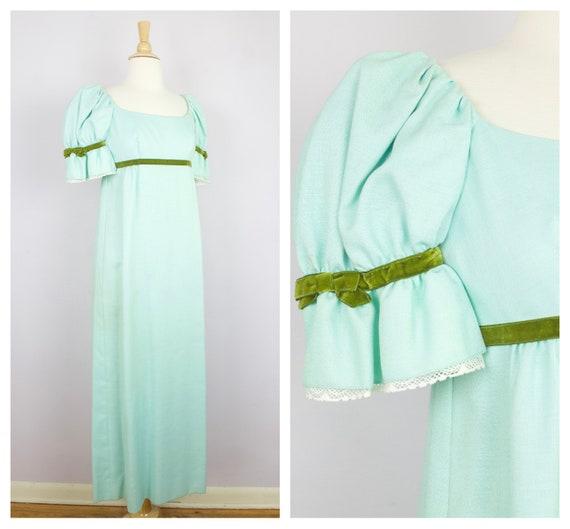 Vintage 1960's Lorrie Deb Aqua Blue Green Velvet T