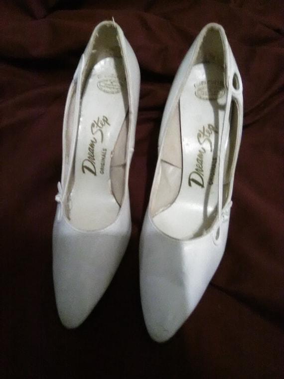 Vintage white wedding shoes