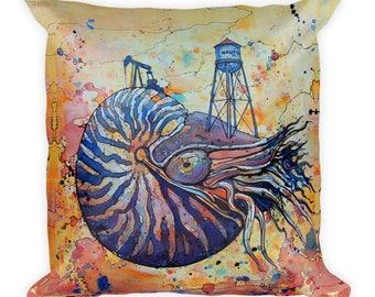 Nautil/US by Dan Colcer - Art Pillow