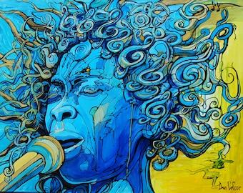 Erykah Badu - Fine Art Print