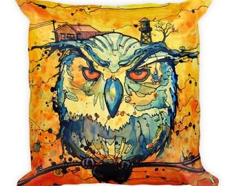 Night Watcher by Dan Colcer - Art Pillow