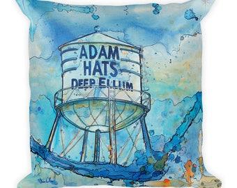 Adam Hats Water Tower by Dan Colcer - Art Pillow