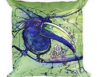 Toucan by Dan Colcer - Art Pillow