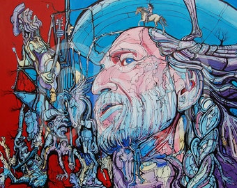 Willie Nelson - Fine Art Print