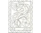 Paper Pattern - Fraktur Rug
