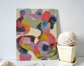 Abstract - Lavender, Chartreuse, Pink,
