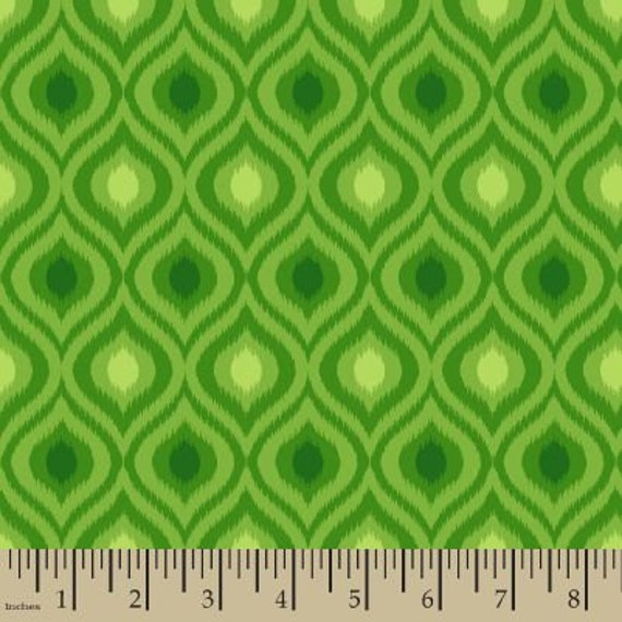 279348843a960 06319 - Springs Creative Products Quilting Basics Ikat in Green - 1 /2 yard