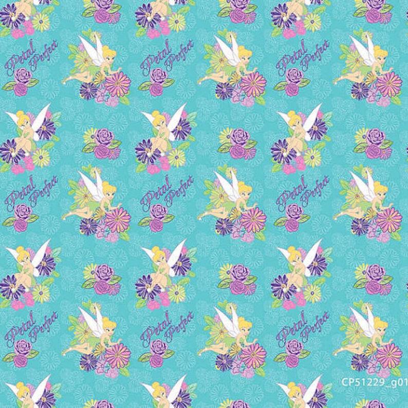 744faab954223 06437 - Springs Creative -Disney Tinkerbell Petal Perfect Flower - 1/2 yard