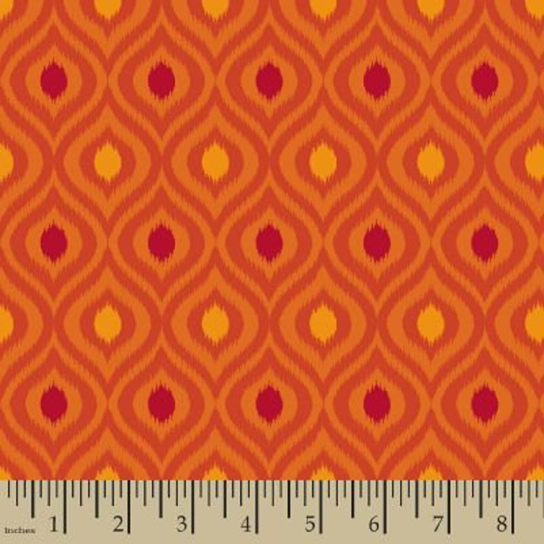 e35e32d370141 06326 - Springs Creative Products Quilting Basics Ikat in Flame - 1/2 yard
