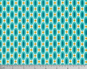 54073 - Joel Dewberry True Colors Abacus in Aqua color - 1/2 yard