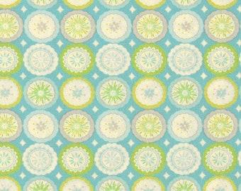 25001 Dena Designs Kumari Garden Collection Lalit  in blue color-  1/2 yard